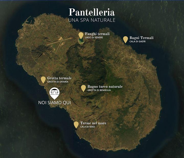SPA a Pantelleria - Mappa dei luoghi benefici